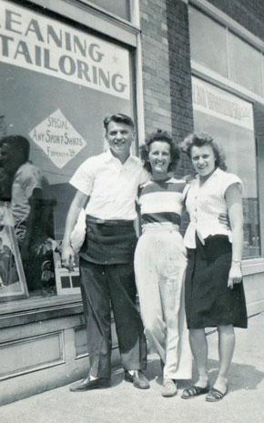 Grandpa Leon, a friend of my grandparents, and my Grandma Cecelia.