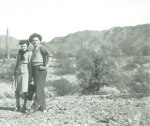 My grandma and grandpa in a desert.