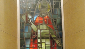Maybe this is a Stained Glass of St. Andrew! He looks pretty close. :D