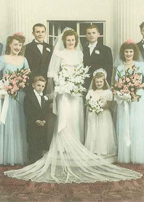 My grandparents' wedding day.