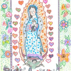 Our Lady of Guadalupe à la Mary Engelbriet. Courtesy of my charming mother.