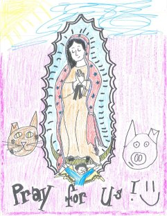 Ryan's version: Our Lady of Guadalupe...with animals and the sunshine. I dig it.