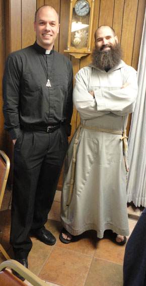 Fr. John and Fr. Pio Maria. So GQ. Kind of.