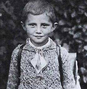 More cute: five-year-old baby Joseph Ratzinger. All-things-precious!