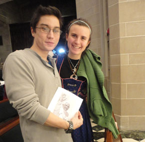 Friend Patrick and Christine at the Holy Hour.
