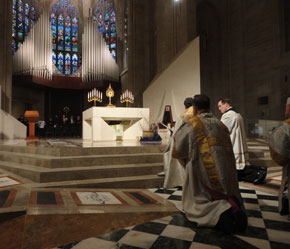 Jesus in the Cathedral.