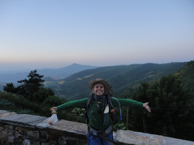 This is me on more adventure than you could press me to imagine. Insanity-Camino 2013.