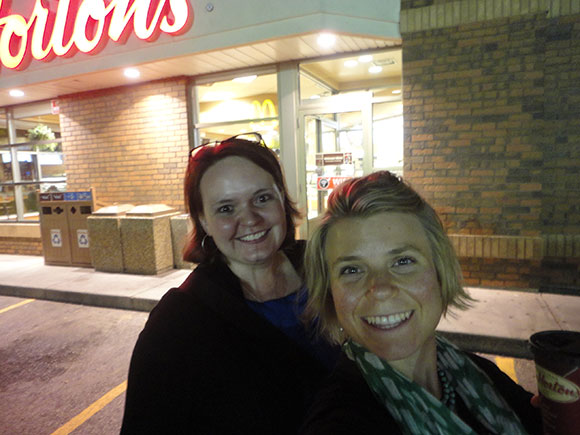 Important part of visiting Canada: Tim Horton's. That hot chocolate tasted like BROWNIES.