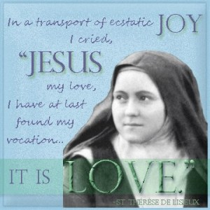 St. Therese, pray for us!