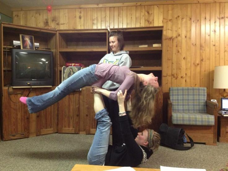 Danielle teaches us how to do circus on retreat last year.