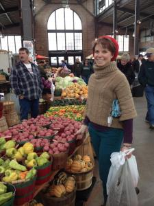 Danielle being a hipster at Eastern Market.