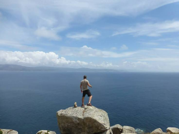 Stolen from Julia. Short hair, don't care. This is Josh at the end of the world.
