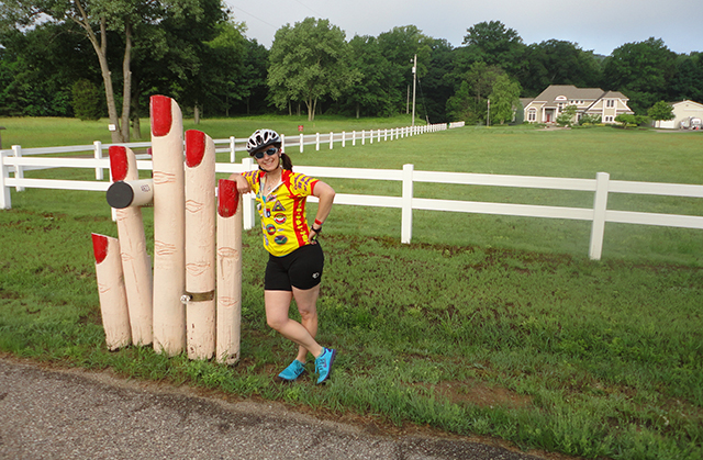 Christine and one clever mailbox.