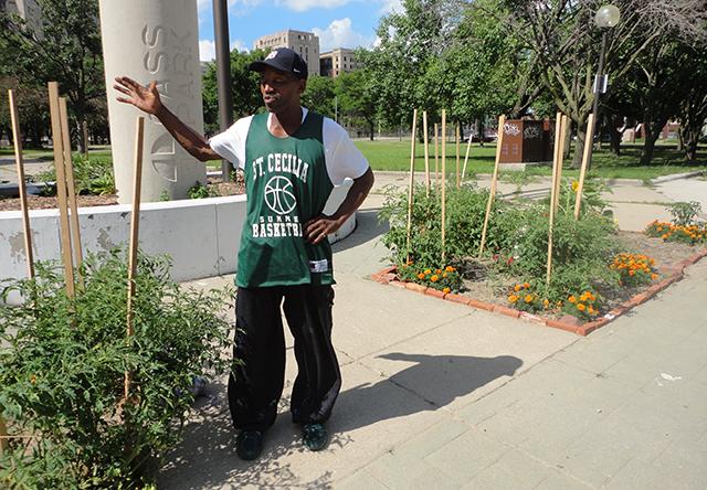 John and his garden.
