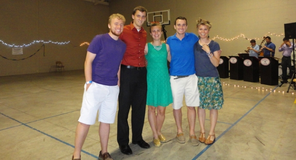 I went dancing with some peoples, this taken before I was all sweaty. Dancing is totes fun.