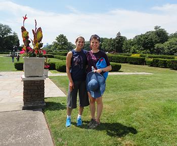 Becca and I at the beautiful island.