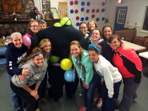Other counselors. My co-cabin counselor is in that suit-of-balloons...you can't even tell, can ya? :)