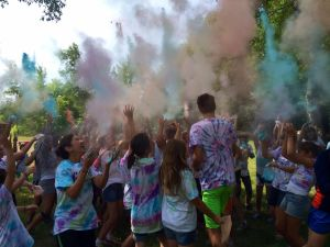 Color run at camp!