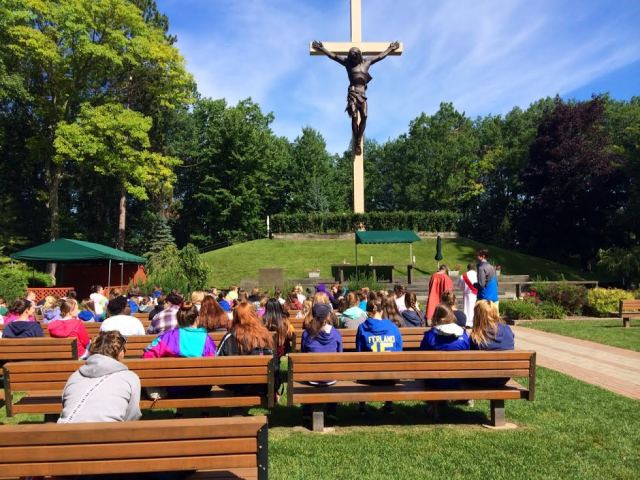 """The all-star chaplain said, 'Why would there be a cross this big? Probably because it's the greatest image of love in the world, so people thought it was important."""" LOVED his messages."""