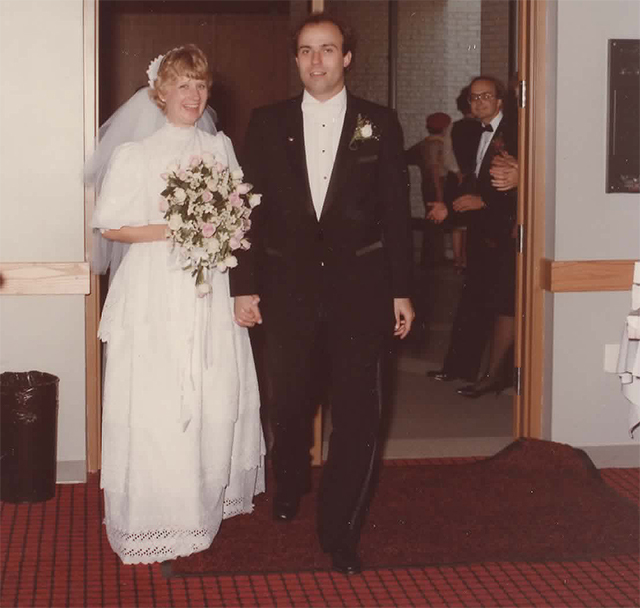 Stepping into that married life. My mom, my dad. 1984.