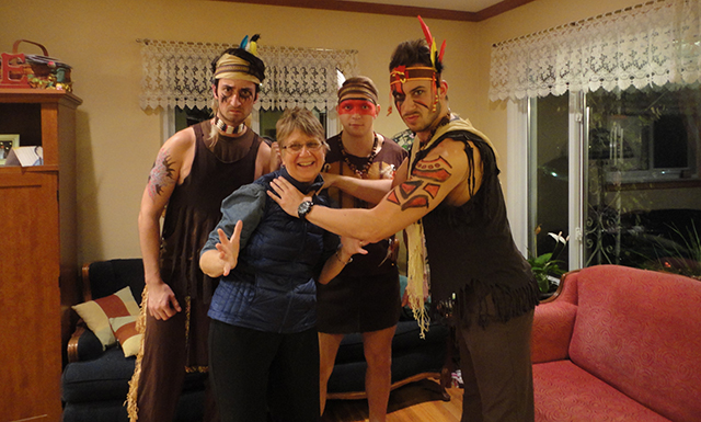 Josh and friends. Josh is the one handling my mother because he's a goober like that. Tribe CHEBOYGAN.