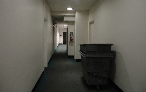 Oh, let me tell you also about this CREEPY HALLWAY.