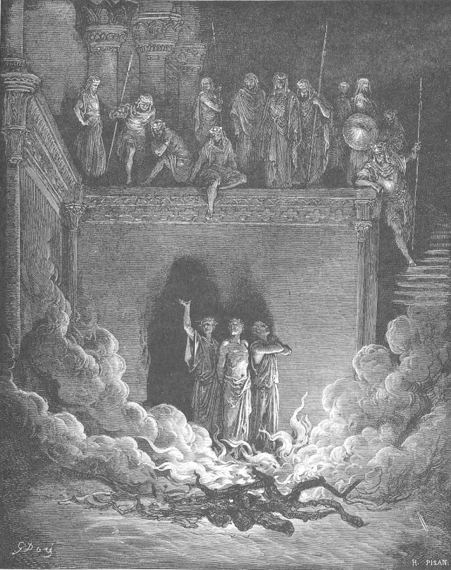 P.S., the guys were thrown in a furnace, but God rescued them and a heavenly being was present with them in the furnace and they weren't even burned in the slightest. Just in case you wanted a refresher course.