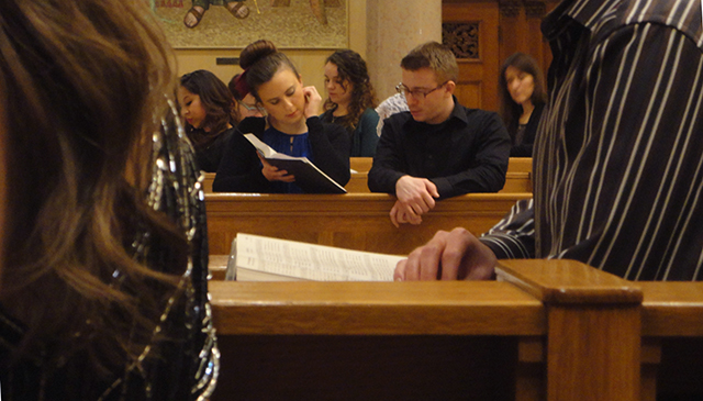 This was at mass, near midnight, on New Year's Eve. I snapped it real sneaky-like. Enjoy.