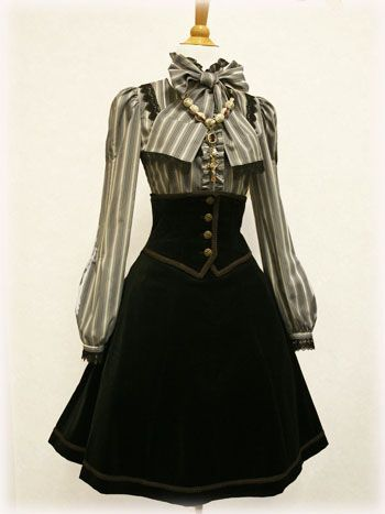 Mostly I love the high corset-y thing on this one. And I'm kind of embarrassed to say I'd wear this in a normal setting? KIDDING. I'm not embarrassed. I'm just myself.