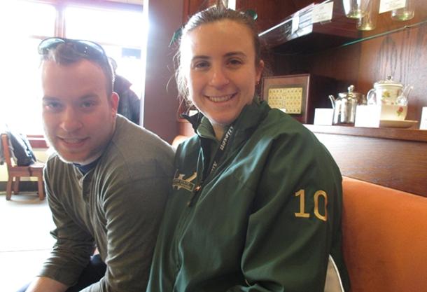 Goobers at the tea shop.