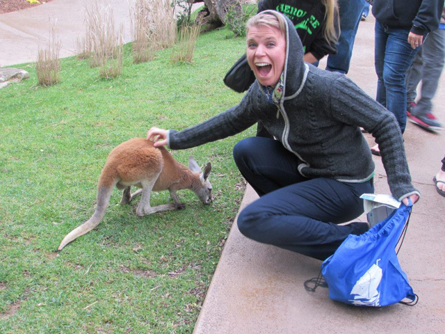 I PATTED A BABY KANGAROO.