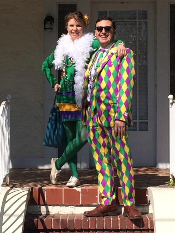 We went to Mardi Gras in New Orleans together. Yes. Yes indeed. And he wore that all day.