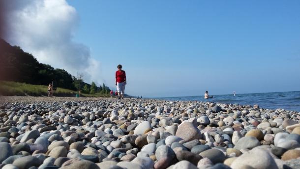 Julia at Lake Michigan during da summertime.